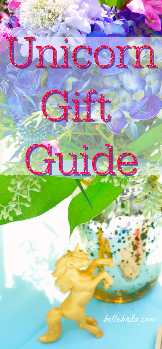 Do you know someone who loves unicorns, mermaids, and all things magical? This gift guide will help you find the perfect gift! I've put together a wide selection of gifts that sparkle and shine in every shade of pink, purple, blue, and green. Find shimmery stocking stuffers at just $2 or splurge on a luxurious magical gift set at a higher price point. There's something here for anyone who dreams of magic. | Belle Brita #Christmas #giftguide