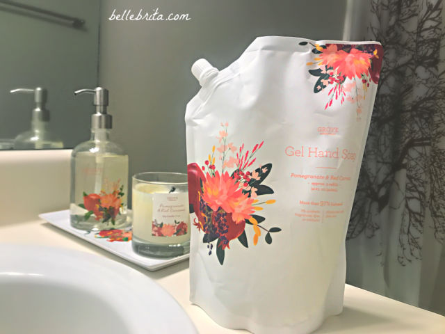 Grove Collaborative sells beautiful refillable hand soap dispensers as well as hand soap refills in a variety of scents. | Belle Brita