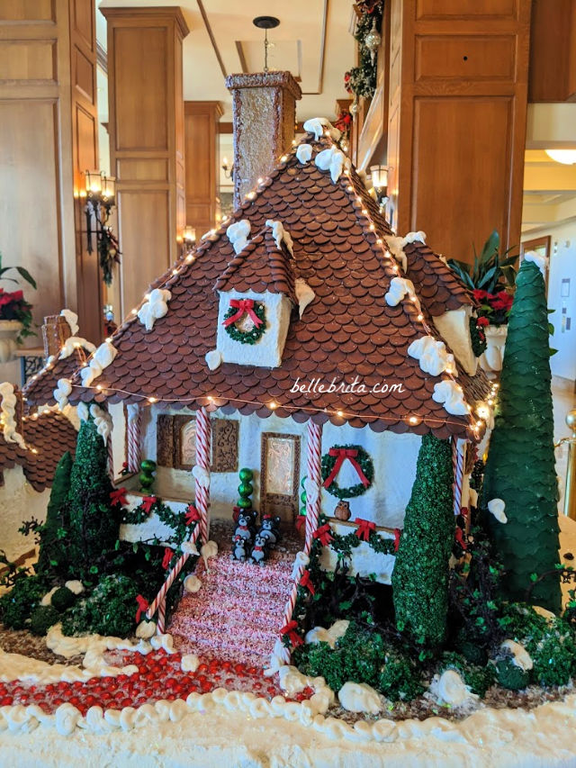 A large gingerbread house