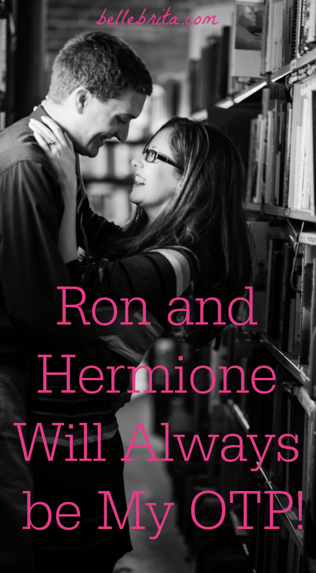 "Text overlay reads: ""Ron and Hermione Will Always be My OTP"""