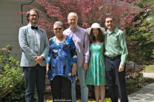 My mom's last Easter, in my parents' backyard, after church.