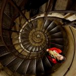 Climbing up and down the stairs at l'Arc de Triomphe is intense! | Belle Brita