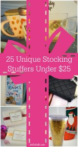 This holiday season, find the perfect stocking stuffers for everyone on your Christmas shopping list! These 25 stocking stuffers are all under $25! | Belle Brita