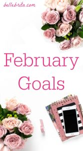 Monthly goals help me keep track of self-improvement. These are my goals for February, plus a recap of January. | Belle Brita