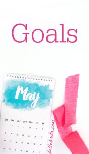 """Text reads, """"Goals May"""""""