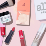 Flat lay with beauty samples from Allure Beauty Box